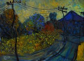 the lantana hedge by glenox66