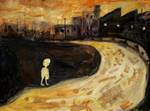 'boy At The Creek' 90cmx70cm by glenox66