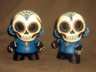 Day of the Dead Mini Munnys by ReverendBonobo