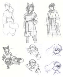 Memoirs sketchdump by Hanyou-no-miko