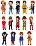 Keychains: Kamen Rider (Den-O, Fourze, OOO, W) by rhythmic-high