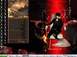 Desktop:: Digital Flame by rhythmic-high
