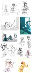sketch dump 0007 original characters everywhere by eruemcee