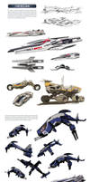 Mass Effect universe - ships and vehicles by SupermanLovesAspen