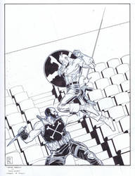 Captain America / Inks by RobPaolucci