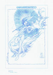 Phoenix / Heron Maiden Pencils by RobPaolucci
