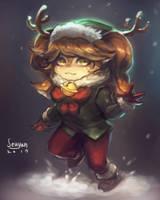 Snow Fawn Poppy by Seuyan