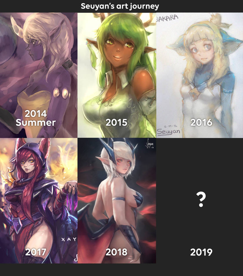 an art journey during 4 years by Seuyan