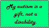 Autism is a Gift by MOJAL