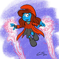The Scarlet Smurfette by Citrusman19