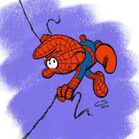 Spider-Smurf by Citrusman19
