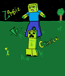 Zombie VS Creeper by BKOPHOTOGRAPHY