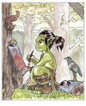 Lorc the little orc painting by shivikai