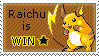 Raichu is win - Stamp by creature002