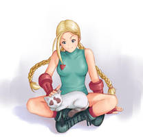 Cammy and cat by Tarhoay