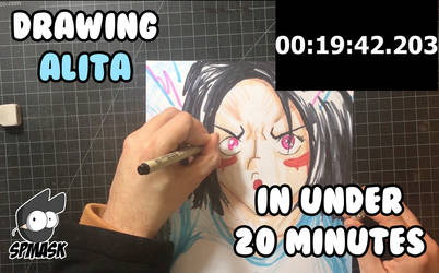 Drawing Alita in 20 minutes by StamayoStudio