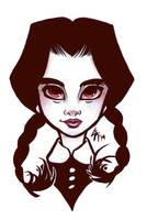 Goth Girls - Wednesday Addams by LarissaRivero