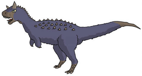 Blue Carnotaurus by watapraski