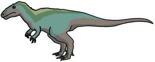 Bluish Megalosaurus by watapraski