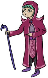 Extrange wizard lady by watapraski