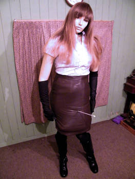 leather skirt punctured by puncturegown