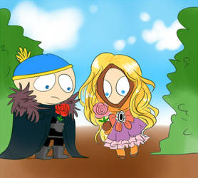nightwatcher cartman and princess kenny by Bloodmilkk