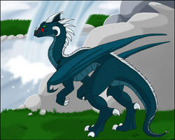 -+Dragon and Waterfall+- by windrider01