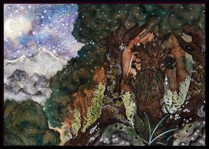 Promenade with Treebeard by Kafkami