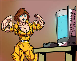 Buffing Bad - April O'Neil by Ritualist