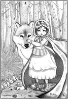 Little Red Riding Hood - Lines by Scarlet-Adrianne