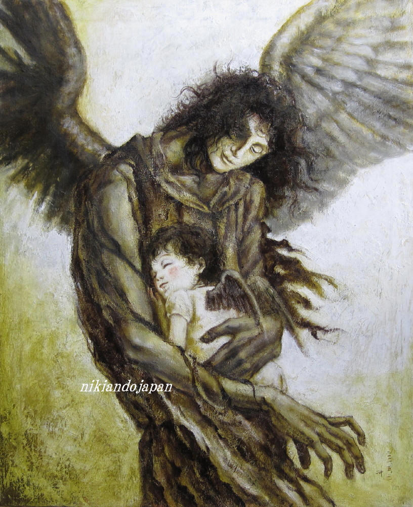 Two black angels by NikiAndo