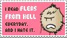 I Read Fleas Form Hell stamp by xpazeman