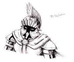 Inktober '16: Dullahan by ChaosShadow