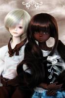 Mei-Mei-chan and Kudo by Kutiecake