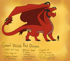 Bestiary - Great Welsh Red Dragon by TipsyRa1d3n