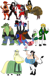 FantasTech - Yet More Characters in Color by TipsyRa1d3n