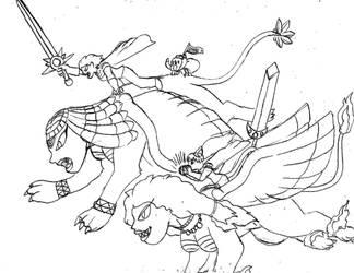FantasTech - Tara and Rugtla, Back to Attack! by TipsyRa1d3n