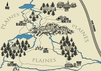 Native American Adventure Map by linflas-art