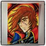Harlock colored by snarebang
