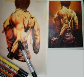 Boris Valejo tattoo W.I.P by behzadpainter