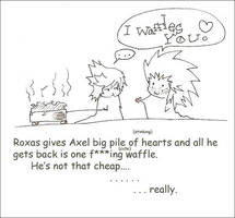 AkuRoku- Hearts and Waffles by crimson-ix