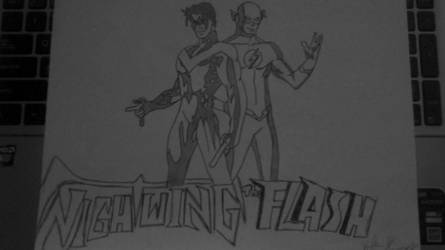 Nightwing and The Flash. by Destrof22
