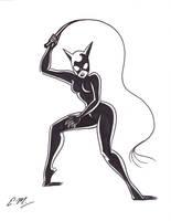 Catwoman Marker Sketch by em-scribbles