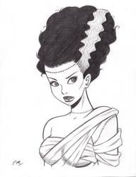 Bride of Frankenstein Commission by em-scribbles