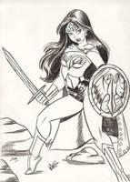 Warrior Wonder Woman Sketch by em-scribbles