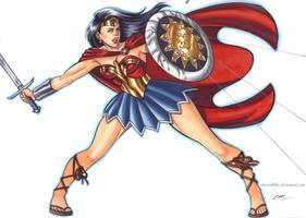 Wonder Woman Commission by em-scribbles