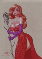 Jessica Rabbit by em-scribbles