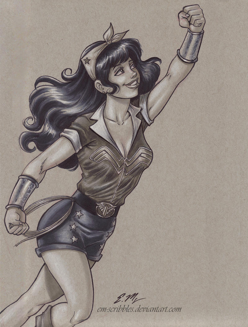 Bombshell Wonder Woman Commission by em-scribbles
