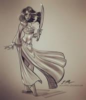 Talia Sketch by em-scribbles