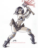 Cassie Hack Commission by em-scribbles